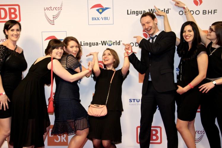 Lingua-World-Mitarbeiter bei der VICTRESS Awards Gala