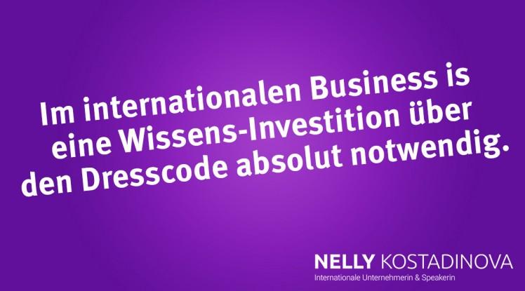 Im internationalen Business ist eine Wissens-Investition über den Dresscode absolut notwendig.